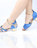 Women's Heels Spring / Fall Open Toe Leather Outdoor / Casual Stiletto Heel Lace-up Black / Blue / Red Others