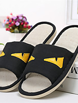 Men's Slippers & Flip-Flops Spring / Fall Slingback Linen Casual Flat Heel Others Black / Gray Others