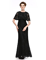 Lanting Bride® Trumpet / Mermaid Mother of the Bride Dress Ankle-length Short Sleeve Lace with