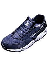 Unisex Sneakers Spring / Fall Comfort Tulle Casual Flat Heel  Black / Blue Sneaker