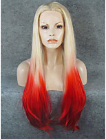IMSTYLE 30Fashion Blonde Red Ombre Synthetic Lace Front Wigs On Sale