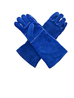 10-2054 Welding  High Temperature Resistant Leather Gloves Lengthened  Size 10