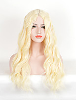 Blonde Color Women Synthetic Wigs Fashion Long Wave European and American Wigs