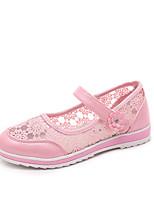 Синий / Розовый-Для девочек-На каждый день-Дерматин-На плоской подошве-С круглым носком / Сандалии-Сандалии