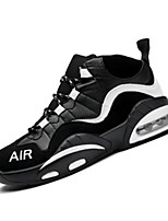 Men's Sneakers Spring / Fall Comfort PU Casual Flat Heel  Black and Red / Black and White Basketball