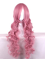 Fashion Sexy Women Hair Wigs Pink Color Cosplay Synthetic Wigs
