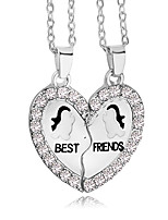 New Fashion Best Friends Broken Heart Animal Pendants & Necklaces Austria Crystal Necklace Gift For Friends Jewelry