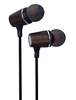 Pure Music Ebony Wood Stereo Earbuds In Ear Headphones Headsets Full-range Balance Earphones