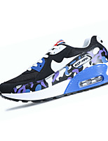Women's Sneakers Spring / Fall Comfort / Round Toe Tulle Athletic Flat Heel Lace-up Blue / Red / Royal Blue Sneaker