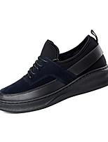 Herren-Sneaker-Lässig-Wildleder-Flacher Absatz-Komfort-Schwarz Blau Rot