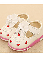 Girl's Flats Spring / Fall / Winter Comfort Leather / Synthetic Casual Flat Heel Others Pink / Red / White Others