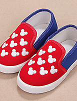 Girl's Loafers & Slip-Ons Fall Comfort / Round Toe Canvas Casual Flat Heel Others Blue / Red Others