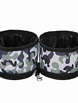 Cat / Dog Bowls & Water Bottles / Feeders Pet Bowls & Feeding Waterproof / Portable Red / Black / Brown / Gray / Khaki Oxford Fabric