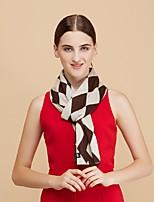 Bufanda Mujer Casual-Acrílico Bloques Rectángulo