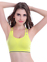 Women's Fashion Sexy Cross Back Sports Bras Wireless Push Up Padded Underwear Fitness Running Tops