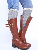 Women's Winter Knitting Lace Wool Warm Short Leg Warmers