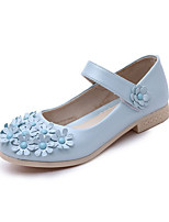 Girl's Oxfords Spring / Fall Comfort / Round Toe PU Dress Low Heel Others / Hook & Loop Blue / Pink /