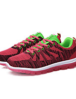 Frauen Laufsportschuhe Frühjahr / Komfort Stoff beiläufige flache Ferse grün / rot Sneaker fallen