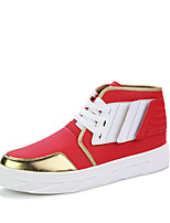 Men's Bootie PU Party & Evening / Casual Flat Heel Lace-up Black / Red / White Walking EU39-43