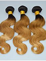 Ombre Dark Blonde Brazilian Hair Weave Bundles Pansy Hair Style Body Wave Honey Blonde Hair Extensions