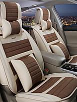 Stepping Stones Four Seasons General Flax Car Seat Cushion Supplies Automotive Seat Cushion PU Leather