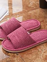 Women's Slippers & Flip-Flops Summer Slingback Linen Casual Flat Heel Others