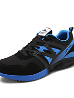 Men's Sneakers Spring Fall Comfort Tulle Outdoor Casual Flat Heel Lace-up Black Blue Orange Running