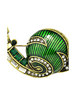 New Cute Style Enamel Snail Shape Brooches for Women