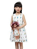 Girl's Casual/Daily Solid DressPolyester Summer White