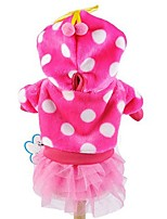 Cat / Dog Hoodie / Dress Blue / Pink / Rose Dog Clothes Spring/Fall Polka Dots Cute / Fashion