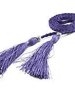 Women's Fashion Tassel Knotted Thin Belt / 10 Colors