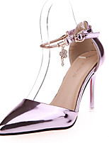 Women's Heels Spring / Summer / Fall Heels / Pointed Toe Leather Party & Evening / Dress Stiletto Heel Rivet / Buckle