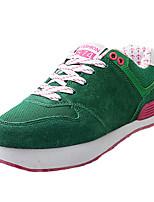 Unisex-Sneakers-Sportivo-Punta arrotondata-Piatto-Scamosciato-Blu / Verde / Rosso / Grigio
