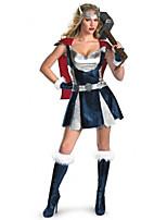 Costumes Movie & TV Theme Costumes Halloween Blue Patchwork Terylene Dress