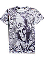 New Fashion Men Character Printed Crew Neck Short Sleeve Men 3d T-shirt