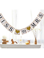 Vintage Miss To Mrs Banner For Bridal Shower Bachelorette Party Decoration