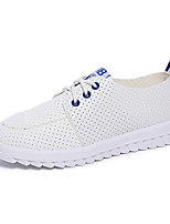 Men's Flats Spring / Fall Comfort PU Casual Flat Heel Lace-up Blue / Green / Red Others
