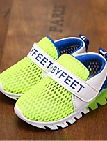 Unisex Sneakers Summer Comfort Tulle Casual Flat Heel Magic Tape Blue / Green / Pink Walking