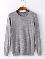 Men's Print Casual Pullover,Cotton Long Sleeve Blue / Red / Gray