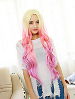 Two Tones Gradient Long  Wavy Heat Resistant Synthetic Hair Wigs For Women Cosplay Party Wigs