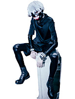 Tokyo Ghoul Ken Kaneki Black PU Leather / Uniform Cloth Cosplay Suits