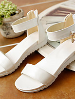 Girl's Sandals Summer Sandals / Open Toe Microfibre Casual Flat Heel Others Blue / Pink / White / Gold Others