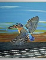 Oil Painting a Bird Flying Hand Painted Canvas Painting with Stretched Framed Ready to Hang