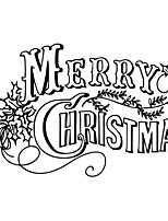 Merry Christmas And Happy New Year Wall Stickers Removable Windows Wall Stickers Paper Decal Room