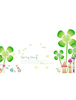 Wall Stickers Wall Decals Style Clover Castle PVC Wall Stickers