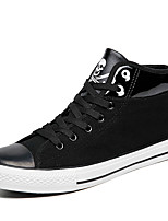 Men's Sneakers Spring / Fall / Winter Comfort Canvas Outdoor / Athletic / Casual Low Heel Lace-up Black / Gray Sneaker