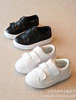 Unisex-Sneaker-Lässig-Gummi-Flacher Absatz-Komfort-Schwarz / Weiß
