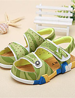 Girl's Sandals Spring / Summer / Fall Sandals PU Outdoor / Casual Flat Heel Bowknot Blue / Green Walking