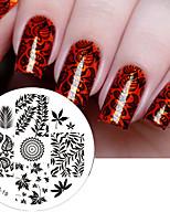 листья тема ногтей штамп штамповка изображения шаблона плиты родилась довольно # 19