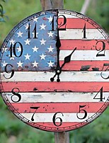 Modern/Contemporary / Country / Casual Family Wall ClockRound Wood 35*35*5 Indoor/Outdoor / Indoor / Outdoor Clock